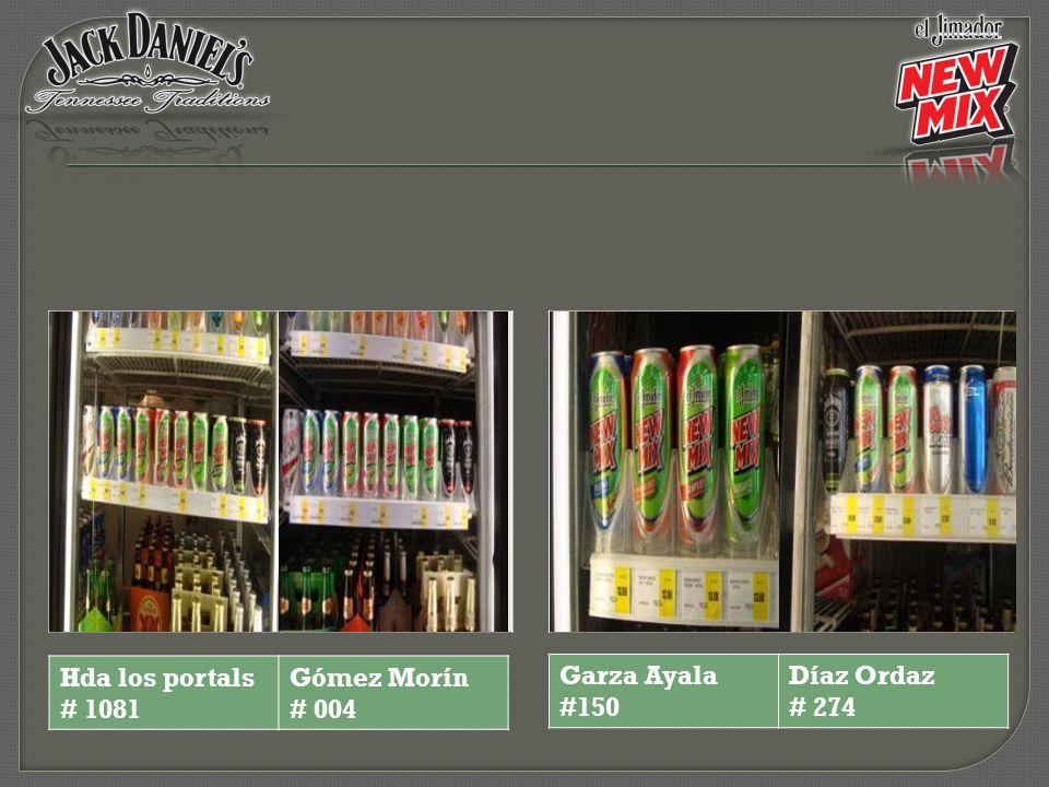 Garza Ayala #150 Díaz Ordaz # 274 Hda los portals # 1081 Gómez Morín # 004