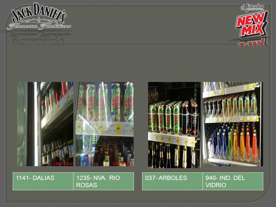 037- ARBOLES940- IND. DEL VIDRIO 1141- DALIAS1235- NVA. RIO ROSAS