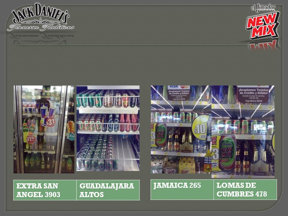JAMAICA 265LOMAS DE CUMBRES 478 EXTRA SAN ANGEL 3903 GUADALAJARA ALTOS