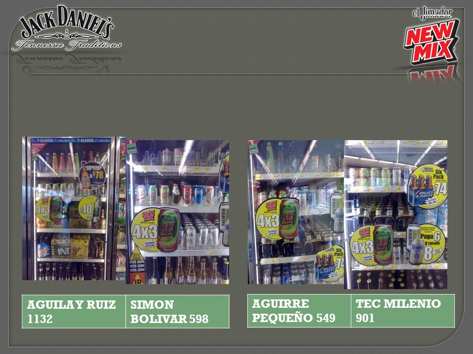 AGUIRRE PEQUEÑO 549 TEC MILENIO 901 AGUILA Y RUIZ 1132 SIMON BOLIVAR 598