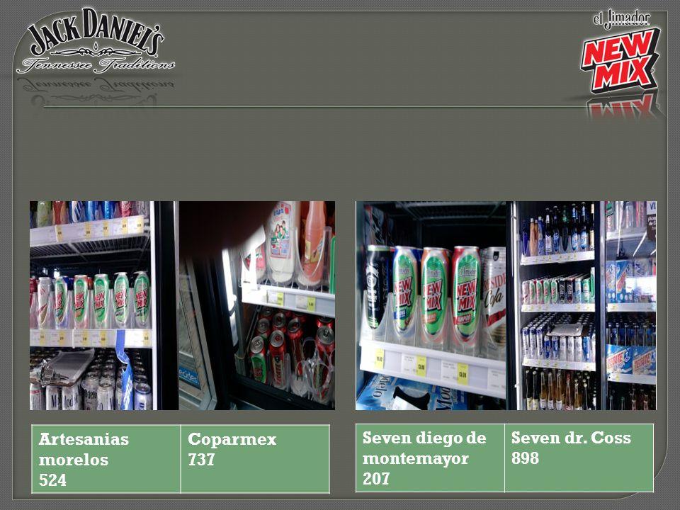Seven diego de montemayor 207 Seven dr. Coss 898 Artesanias morelos 524 Coparmex 737