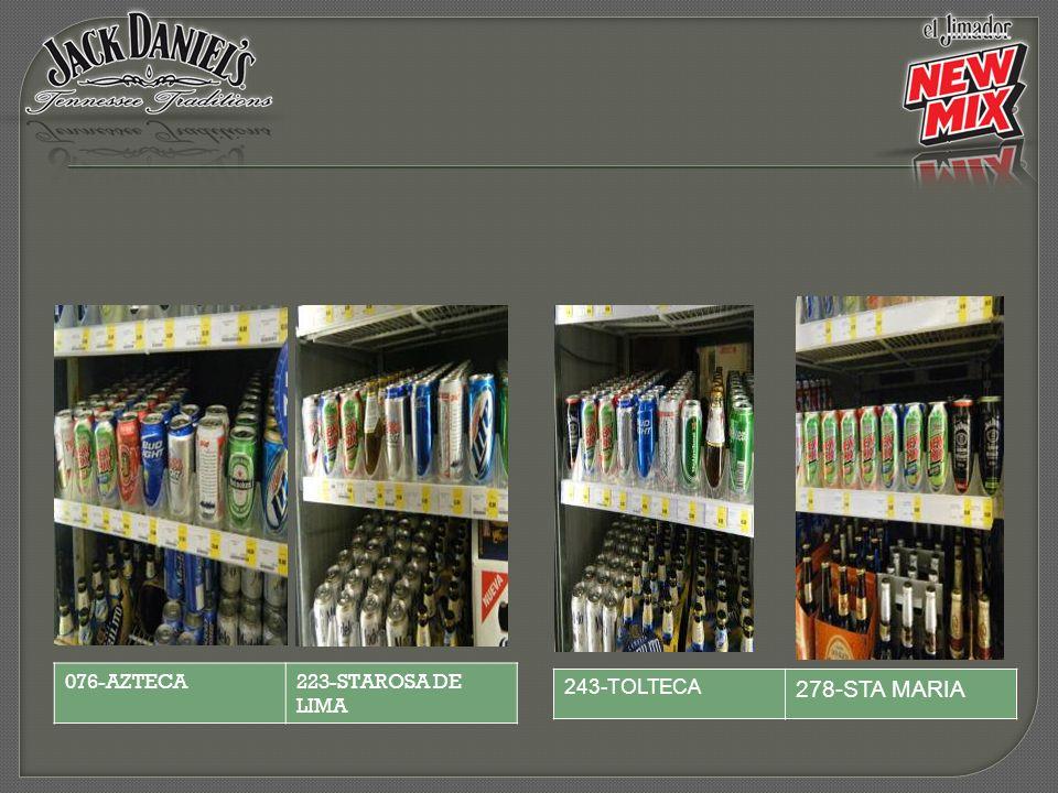 243-TOLTECA 278-STA MARIA 076-AZTECA223-STAROSA DE LIMA