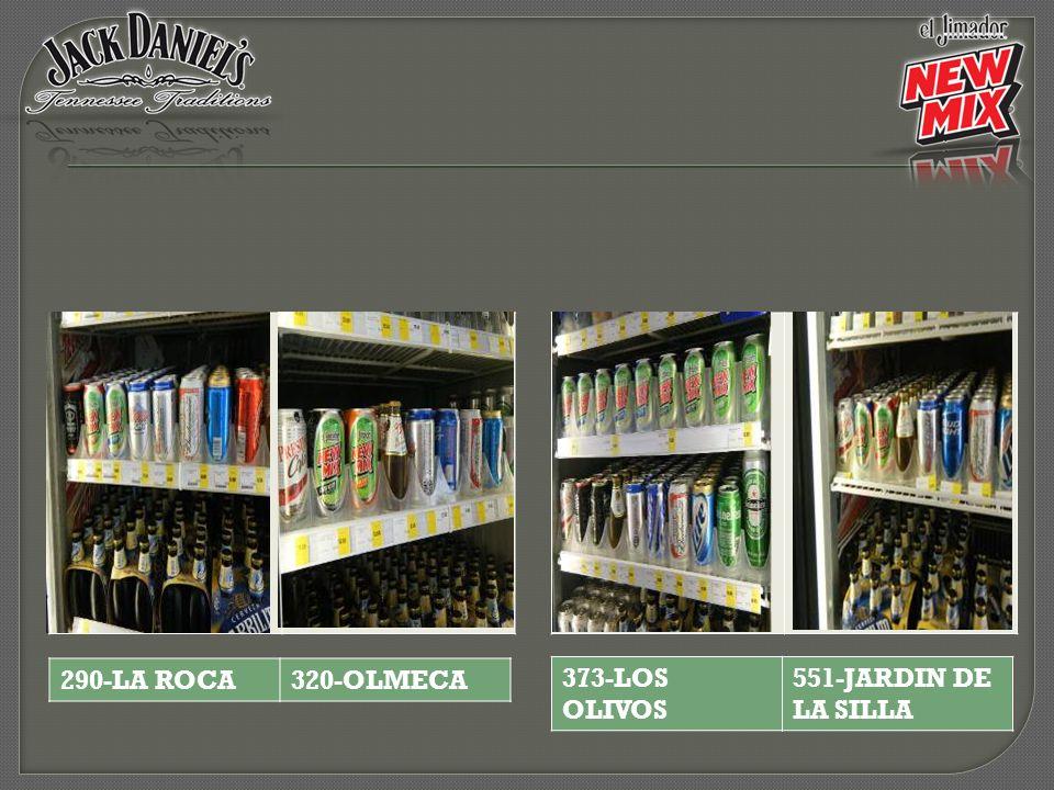 373-LOS OLIVOS 551-JARDIN DE LA SILLA 290-LA ROCA320-OLMECA