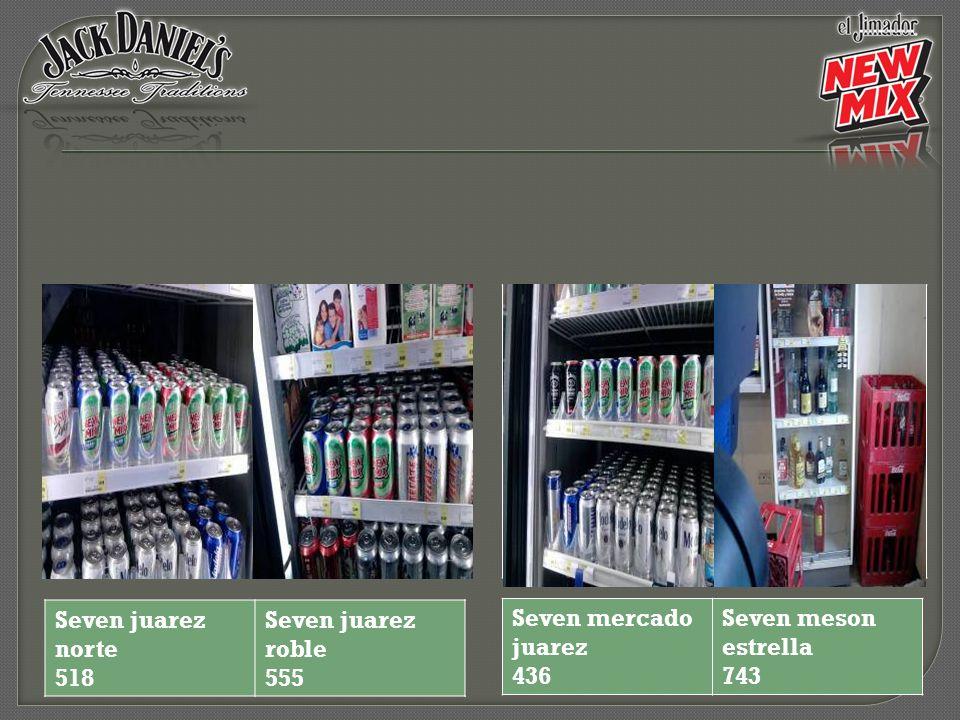 Seven mercado juarez 436 Seven meson estrella 743 Seven juarez norte 518 Seven juarez roble 555