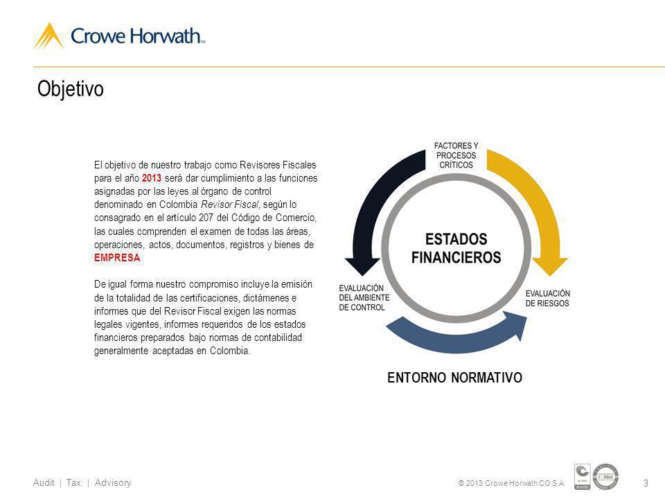 www.crowehorwath.com.co Audit | Tax | Advisory Certificado de Gestión de Calidad Propuesta de Negocios Valores agregados
