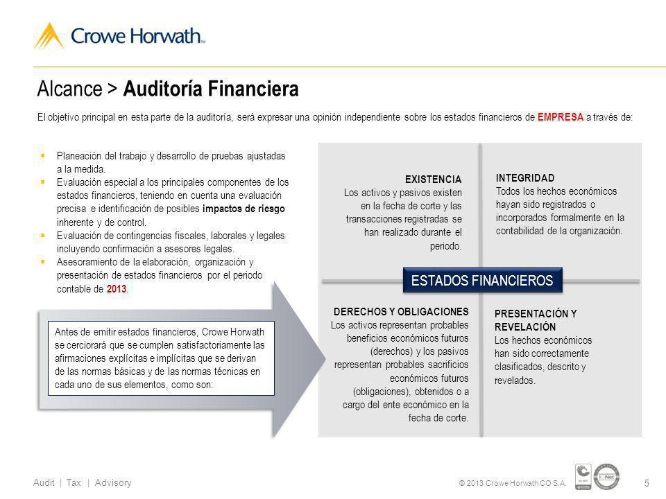 16 Audit | Tax | Advisory © 2013 Crowe Horwath CO S.A.