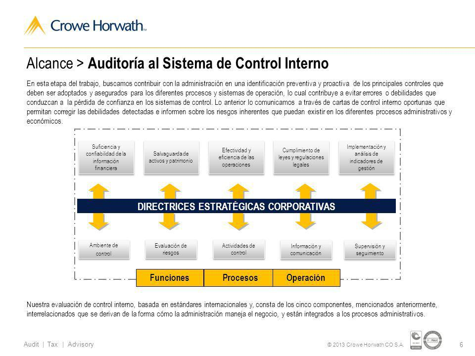 17 Audit | Tax | Advisory © 2013 Crowe Horwath CO S.A.