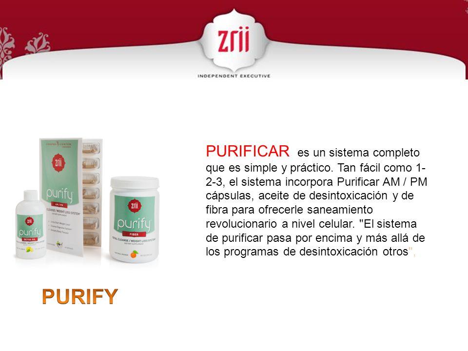 PURIFICAR es un sistema completo que es simple y práctico. Tan fácil como 1- 2-3, el sistema incorpora Purificar AM / PM cápsulas, aceite de desintoxi