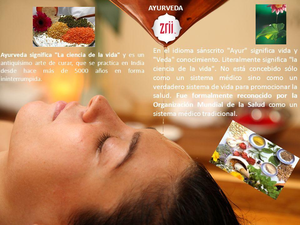 AYURVEDA Es un antiguo sistema de medicina originado en la IndiamedicinaIndia Ayurveda significa