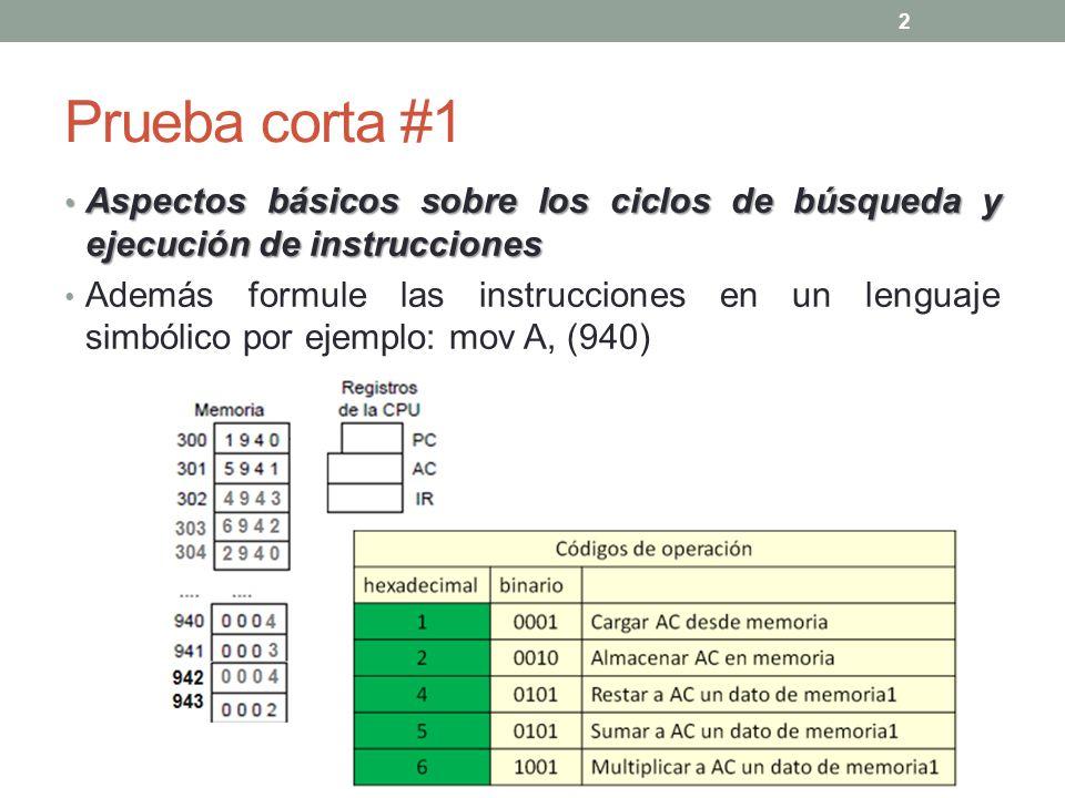 La semana anterior… Conceptos introductorios sobre Organización y Arquitectura de Computadoras: Definiciones Modelo de Von Neumann Pasos para la ejecución de instrucciones (ciclo de búsqueda, ciclo de ejecución) … 3