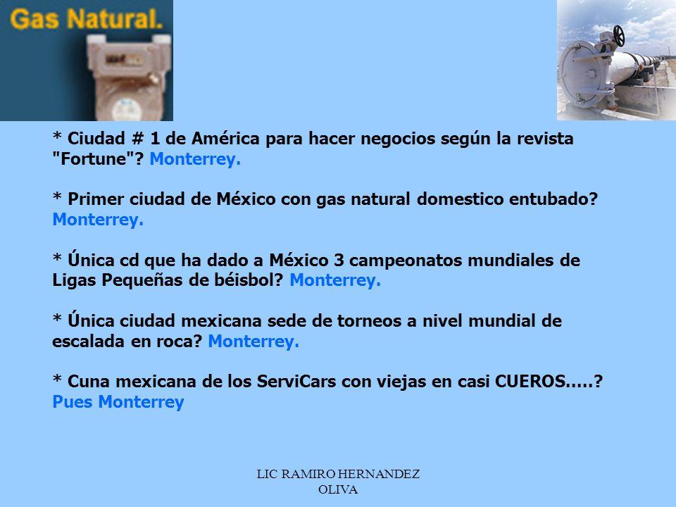 LIC RAMIRO HERNANDEZ OLIVA * Ciudad # 1 de América para hacer negocios según la revista