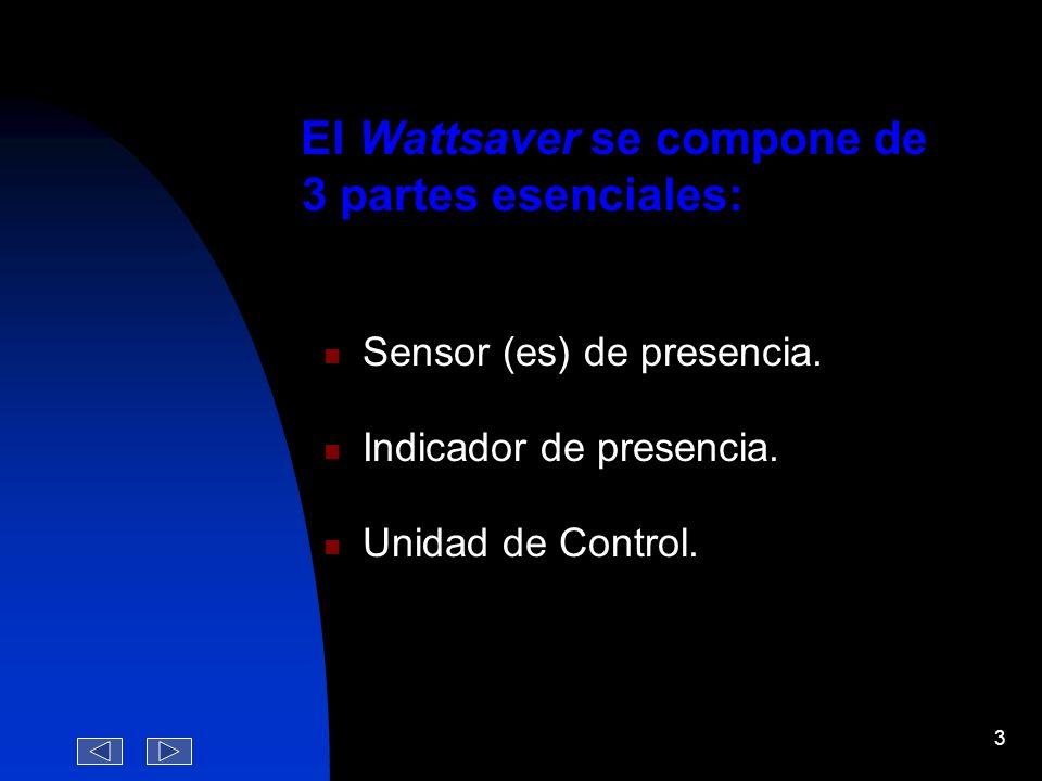 2 ¿ Que es el Wattsaver ? Apagando automáticamente las luces y el A/A de las habitaciones cuando los huespedes salen de las mismas. Es un sistema elet
