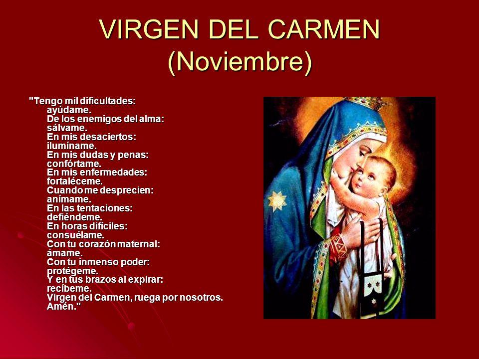 VIRGEN DEL CARMEN (Noviembre)