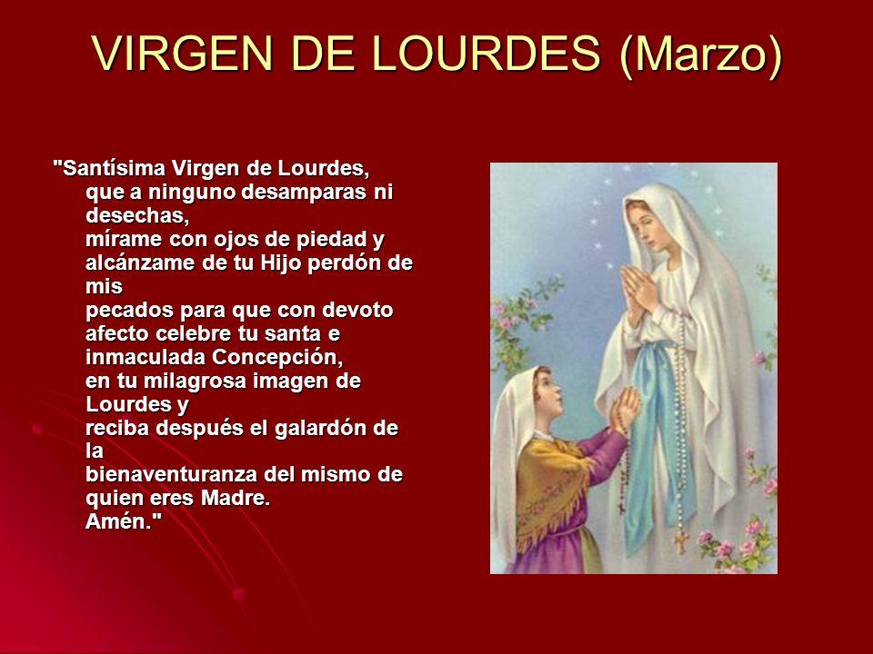 VIRGEN DE LOURDES (Marzo)