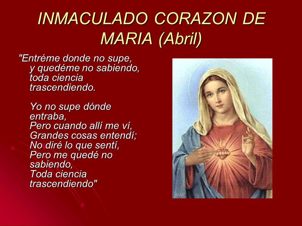 INMACULADO CORAZON DE MARIA (Abril)