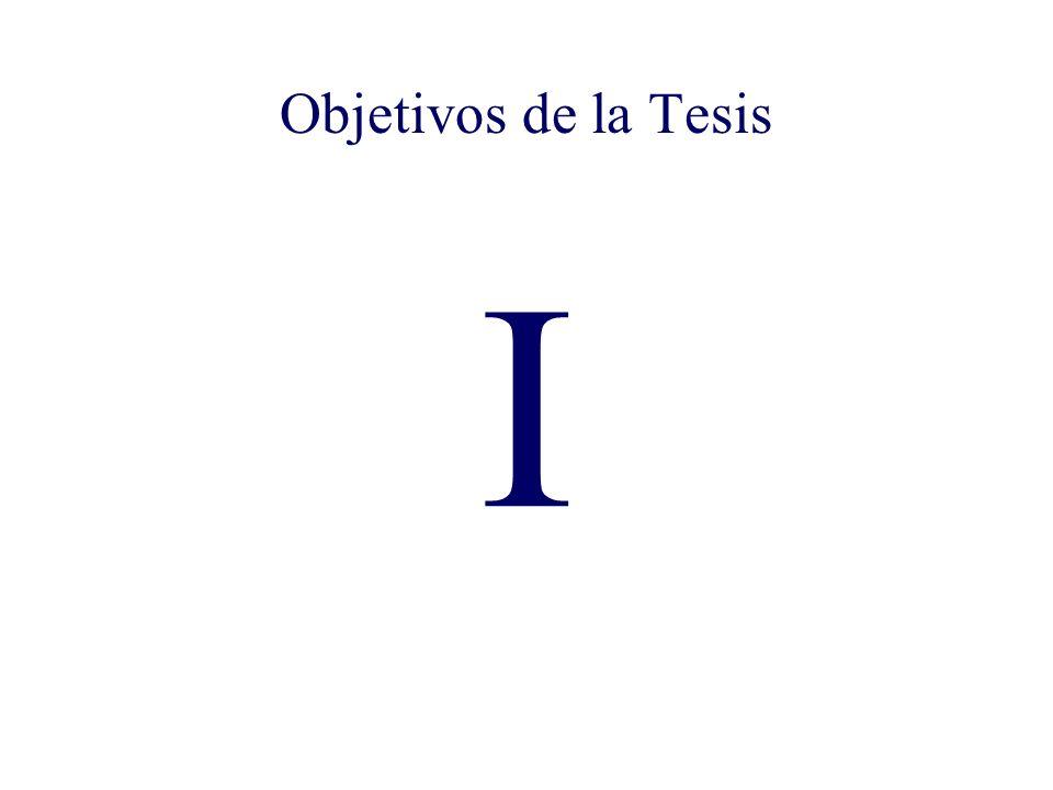 I Objetivos de la Tesis