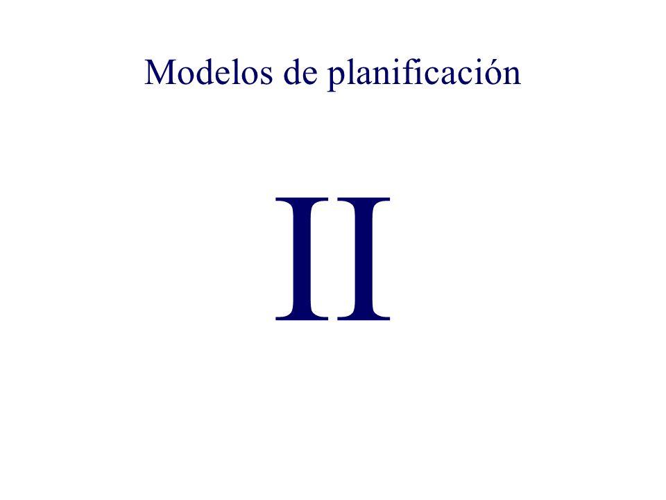 II Modelos de planificación