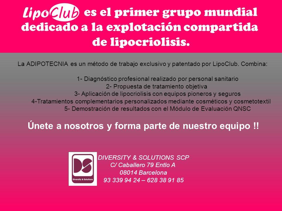 La ADIPOTECNIA es un método de trabajo exclusivo y patentado por LipoClub.