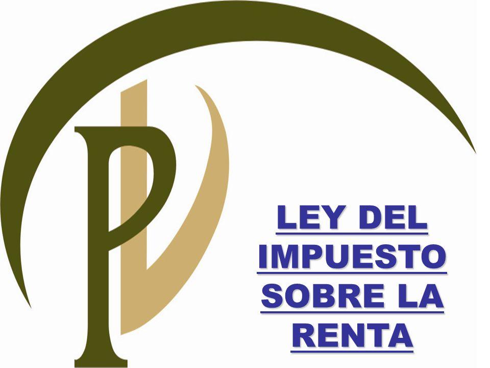 LEY DEL IMPUESTO SOBRE LA RENTA