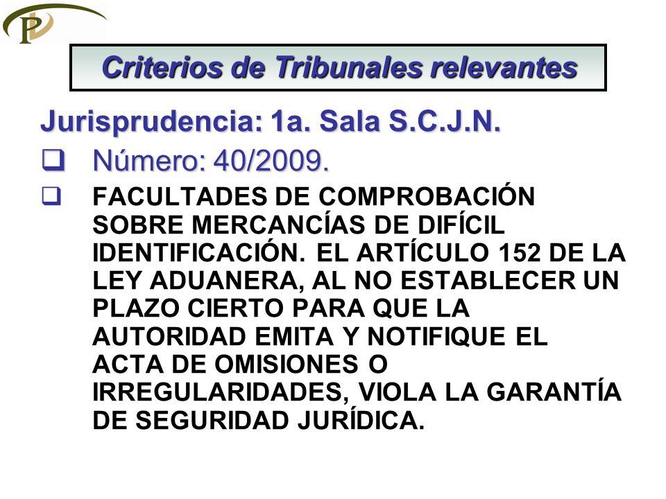 Jurisprudencia: 1a. Sala S.C.J.N. Número: 40/2009. Número: 40/2009. FACULTADES DE COMPROBACIÓN SOBRE MERCANCÍAS DE DIFÍCIL IDENTIFICACIÓN. EL ARTÍCULO