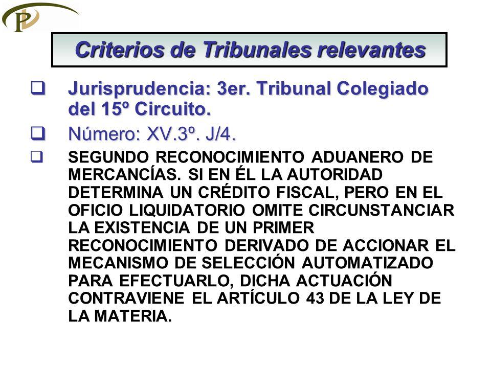 Jurisprudencia: 3er.Tribunal Colegiado del 15º Circuito.