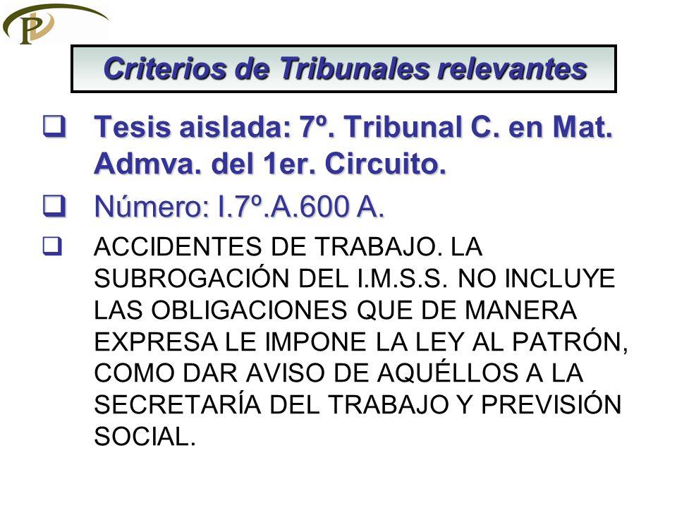 Tesis aislada: 7º.Tribunal C. en Mat. Admva. del 1er.
