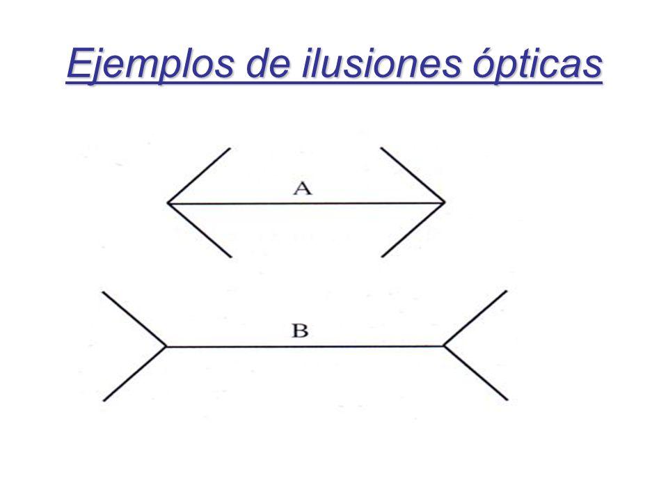 Ejemplos de ilusiones ópticas
