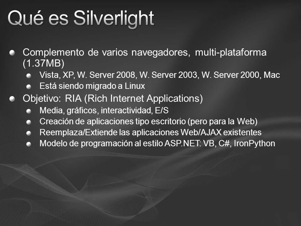 Complemento de varios navegadores, multi-plataforma (1.37MB) Vista, XP, W. Server 2008, W. Server 2003, W. Server 2000, Mac Está siendo migrado a Linu