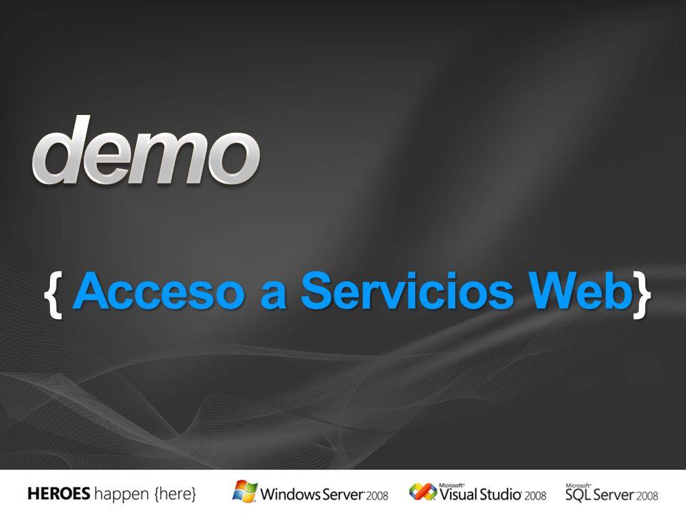 { Acceso a Servicios Web}