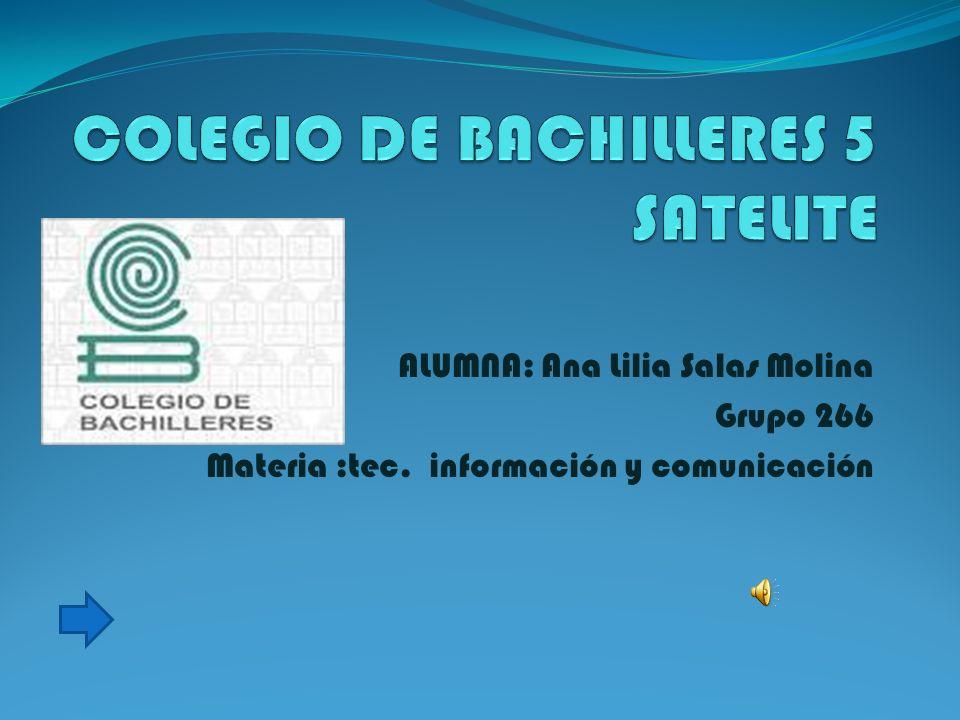 ALUMNA: Ana Lilia Salas Molina Grupo 266 Materia :tec. información y comunicación
