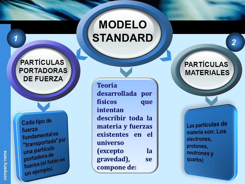 company name PARTÍCULAS PORTADORAS DE FUERZA MODELO STANDARD PARTÍCULAS MATERIALES 1 2