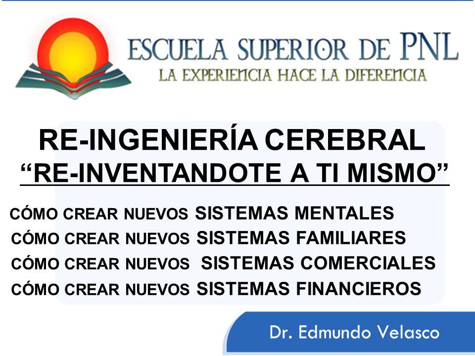 RE-INGENIERÍA CEREBRAL RE-INVENTANDOTE A TI MISMO CÓMO CREAR NUEVOS SISTEMAS MENTALES CÓMO CREAR NUEVOS SISTEMAS FAMILIARES CÓMO CREAR NUEVOS SISTEMAS COMERCIALES CÓMO CREAR NUEVOS SISTEMAS FINANCIEROS
