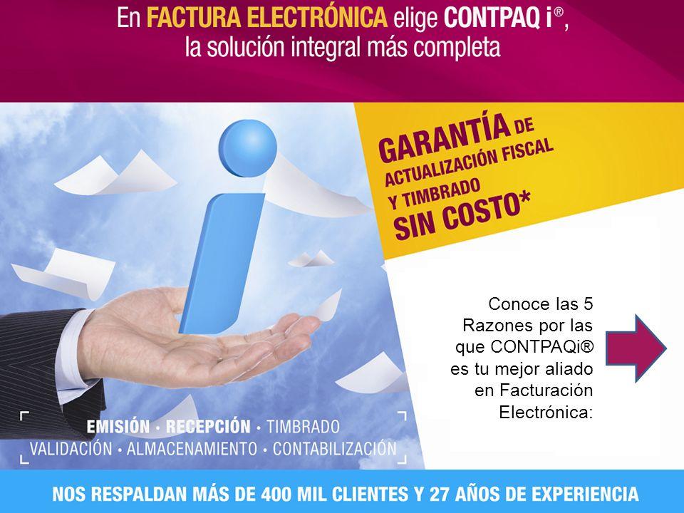 Conoce las 5 Razones por las que CONTPAQi® es tu mejor aliado en Facturación Electrónica: