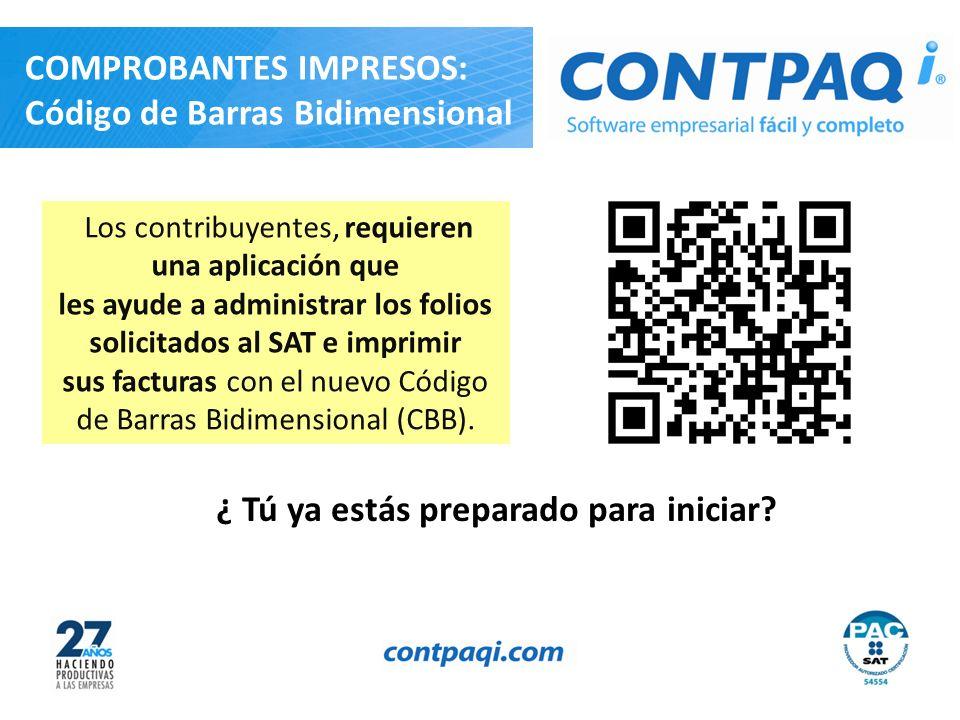 Los contribuyentes, requieren una aplicación que les ayude a administrar los folios solicitados al SAT e imprimir sus facturas con el nuevo Código de Barras Bidimensional (CBB).