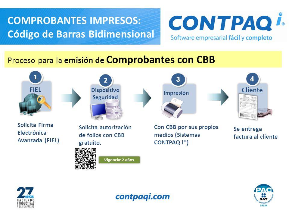 CBB Código de Barras Bidimensional Este comprobante tendrá una vigencia de dos años contados a partir de la fecha de aprobación de la asignación de folios, la cual es: 23/01/2011.