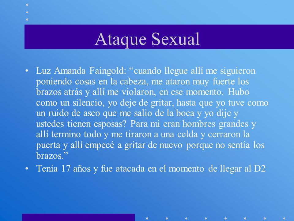 Ataque Sexual Luz Amanda Faingold: cuando llegue allí me siguieron poniendo cosas en la cabeza, me ataron muy fuerte los brazos atrás y allí me violar