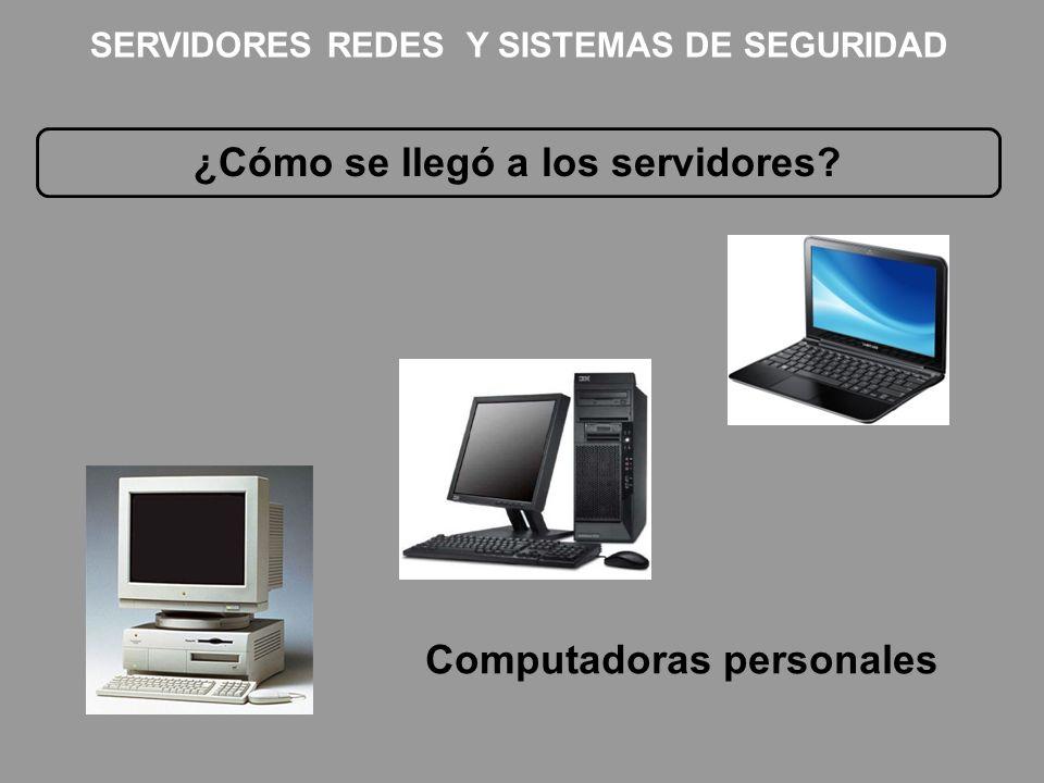 ¿Cómo se llegó a los servidores? Computadoras personales SERVIDORES REDES Y SISTEMAS DE SEGURIDAD