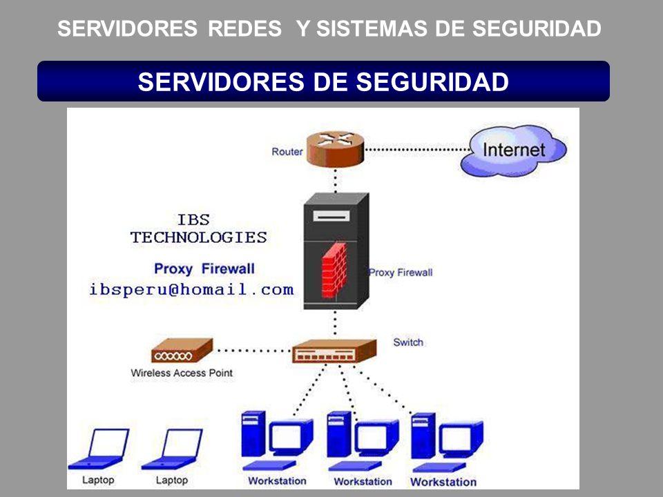 SERVIDORES DE SEGURIDAD SERVIDORES REDES Y SISTEMAS DE SEGURIDAD