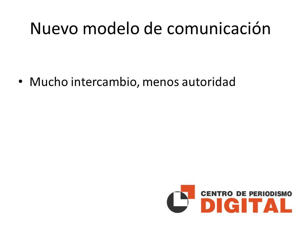 Nuevo modelo de comunicación Mucho intercambio, menos autoridad