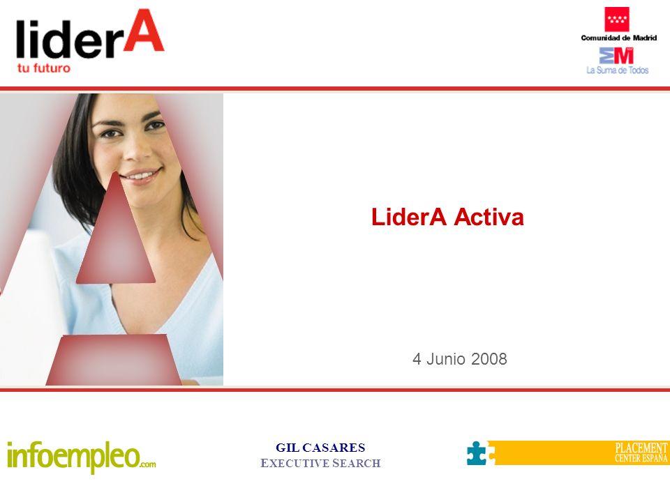 GIL CASARES E XECUTIVE S EARCH 4 Junio 2008 LiderA Activa