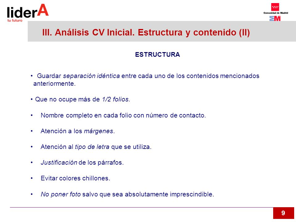 10 III.Análisis CV inicial. CV Modificado MARIA GARCÍA GARCÍA C/ Xxxxx Ttttttt Nº 56 – BºA.
