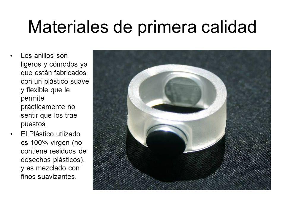 Materiales de primera calidad Los anillos son ligeros y cómodos ya que están fabricados con un plástico suave y flexible que le permite prácticamente
