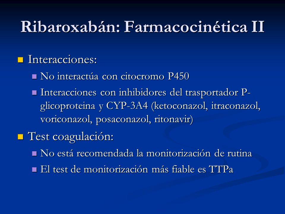 Interacciones: Interacciones: No interactúa con citocromo P450 No interactúa con citocromo P450 Interacciones con inhibidores del trasportador P- glic