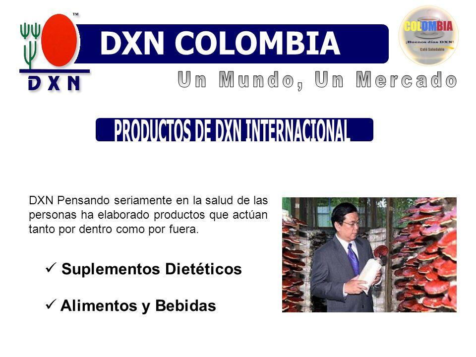 Suplementos Dietéticos Alimentos y Bebidas DXN Pensando seriamente en la salud de las personas ha elaborado productos que actúan tanto por dentro como