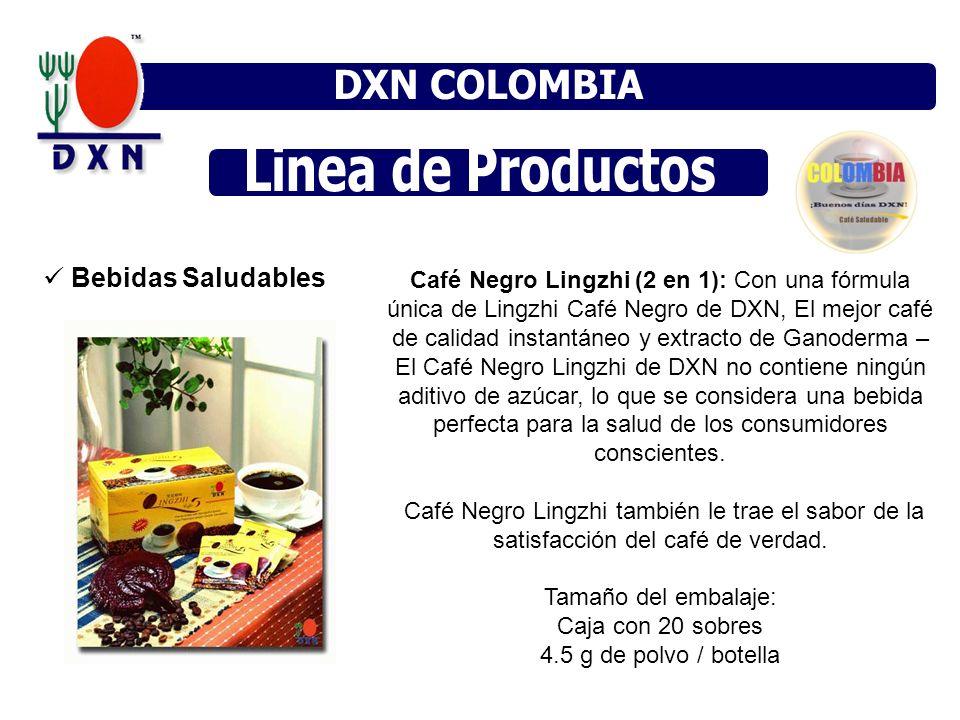 Bebidas Saludables Café Negro Lingzhi (2 en 1): Con una fórmula única de Lingzhi Café Negro de DXN, El mejor café de calidad instantáneo y extracto de