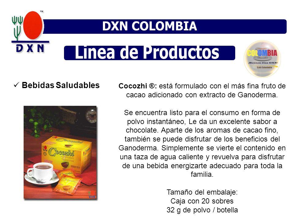 Bebidas Saludables Cocozhi ®: está formulado con el más fina fruto de cacao adicionado con extracto de Ganoderma. Se encuentra listo para el consumo e