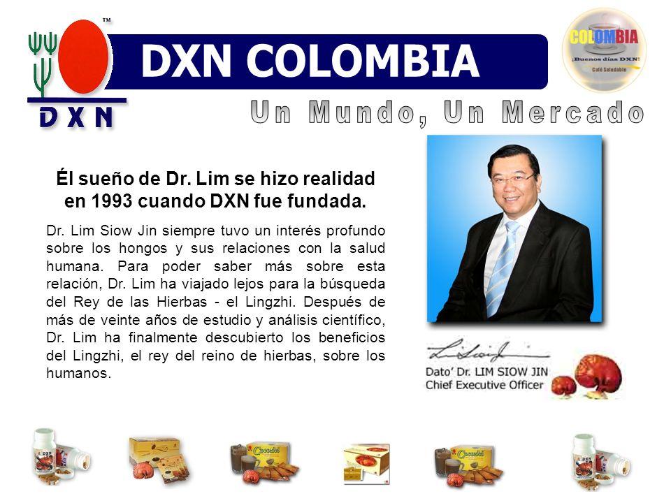 Él sueño de Dr. Lim se hizo realidad en 1993 cuando DXN fue fundada. Dr. Lim Siow Jin siempre tuvo un interés profundo sobre los hongos y sus relacion