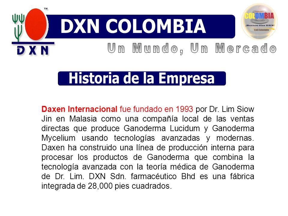 Daxen Internacional fue fundado en 1993 por Dr. Lim Siow Jin en Malasia como una compañía local de las ventas directas que produce Ganoderma Lucidum y