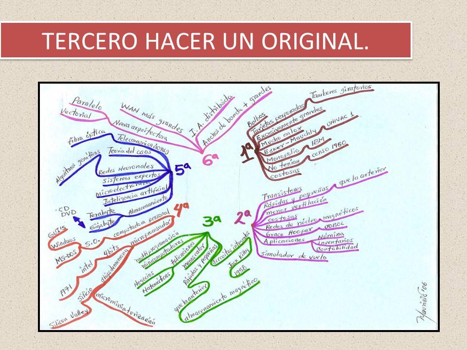 TERCERO HACER UN ORIGINAL.