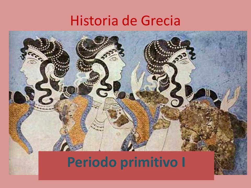Historia de Grecia Periodo primitivo I